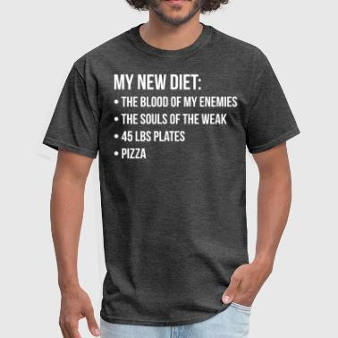 Soul Train New Diet, Blood, Souls, Pizza, Funny, Novelty Gym - Men's T-Shirt