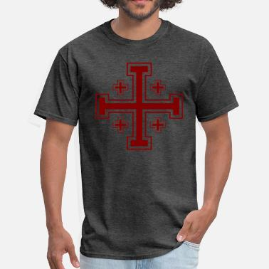 Crusader Jerusalem Cross - Men's T-Shirt