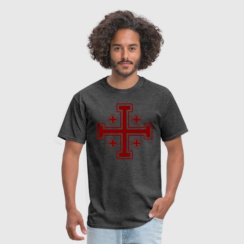 Jerusalem Cross - Men's T-Shirt