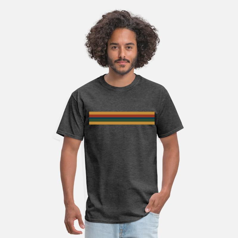 Doctor T-Shirts - 13th Doctor Rainbow Stripe - Men's T-Shirt heather black