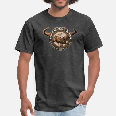 Rodeo Vintage Cape Buffalo Rode - Men's T-Shirt