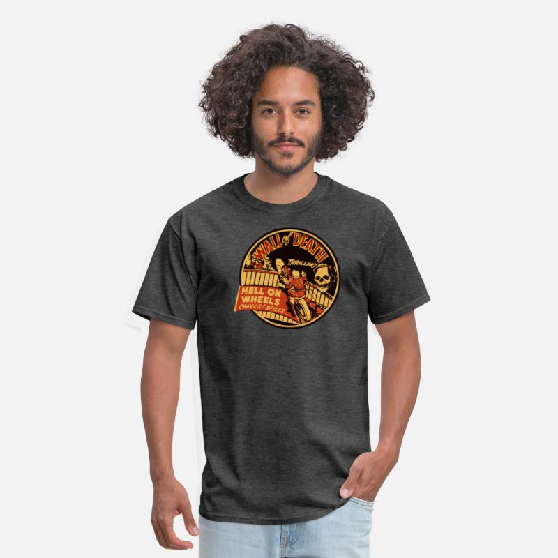 Bar T-Shirts - Vintage Wall of Death - Men's T-Shirt heather black