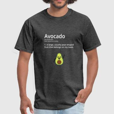 Avocado Dictionary Definition with a twist (White) - Men's T-Shirt
