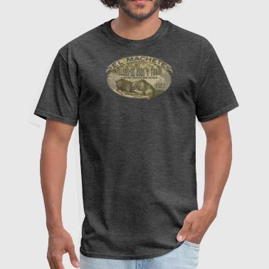 Vintage bar bull and bear fight - Men's T-Shirt