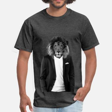 Hipster Lion Hipster lion in a cool suit - Men's T-Shirt