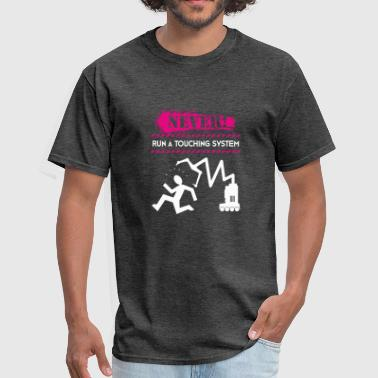 Graduate Electrical Never Run A Touching System Funny Robotics - Men's T-Shirt