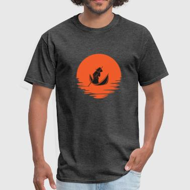 Asian Fish Asian River emblem - Men's T-Shirt