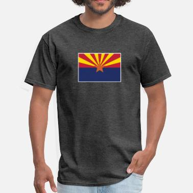 State Border arizona state flag with border - Men's T-Shirt