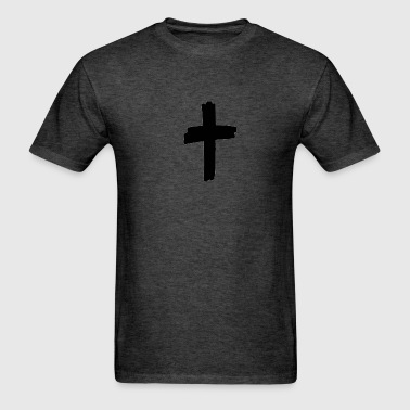 Thick Grunge Cross - Men's T-Shirt