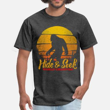 Hide bigfoot hide and seek wold champion - Men's T-Shirt