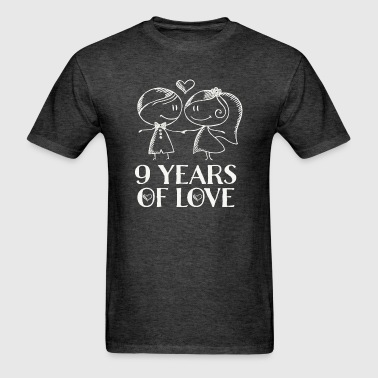 9th Anniversary Couples 9 Years of Love - Men's T-Shirt