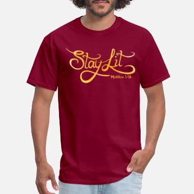 Word Of God Stay Lit - Men's T-Shirt