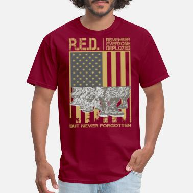 Red Remember Everyone Deployed RED Remember Everyone Deployed T Shirt - Men's T-Shirt