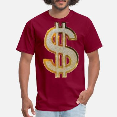 Dollar Diamond Dollar Sign - Men's T-Shirt