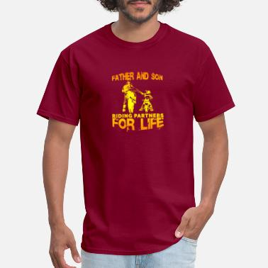 Partners Father and Son riding partners for life - Men's T-Shirt