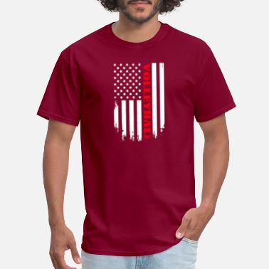 Volleyball American Flag Patriotic Volleyball Player - Flag - Men's T-Shirt