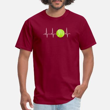 Funny Tennis Tennis Ball Heartbeat Funny Tennis Lover Player - Men's T-Shirt