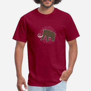 Stone Age Mammoth Ice Age Stone Age Caveman Elephant Hairy - Men's T-Shirt