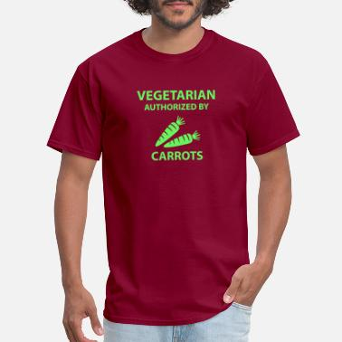 Vegetarian authorized by carrots - Men's T-Shirt