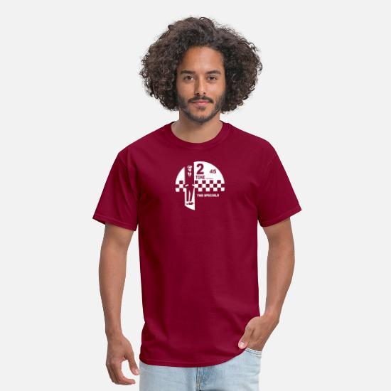 Tone T-Shirts - 2 Tone Records The Specials Label - Men's T-Shirt burgundy