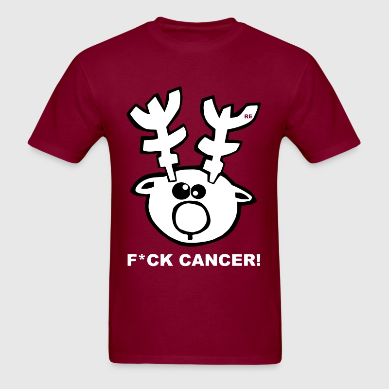 Fuck Fight Cancer Breast Elk Design Statement Rein - Men's T-Shirt