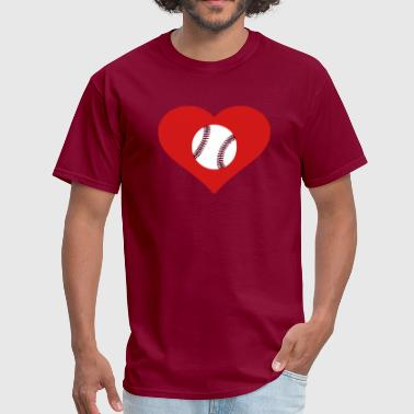 Heart Baseball - Men's T-Shirt