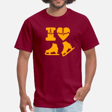 I Love Speed Skate i love ice skating - Men's T-Shirt