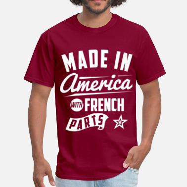 French American American French - Men's T-Shirt