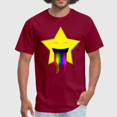 Barf Stars Cute star vomiting a rainbow - Men's T-Shirt