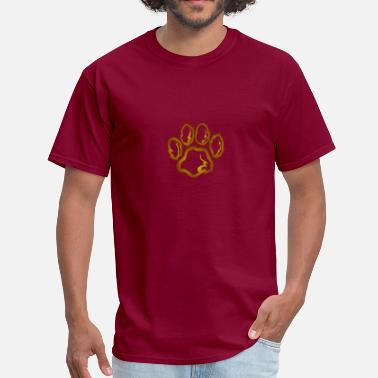 Pawl Lion footprint repents power of the kingdom of elo - Men's T-Shirt