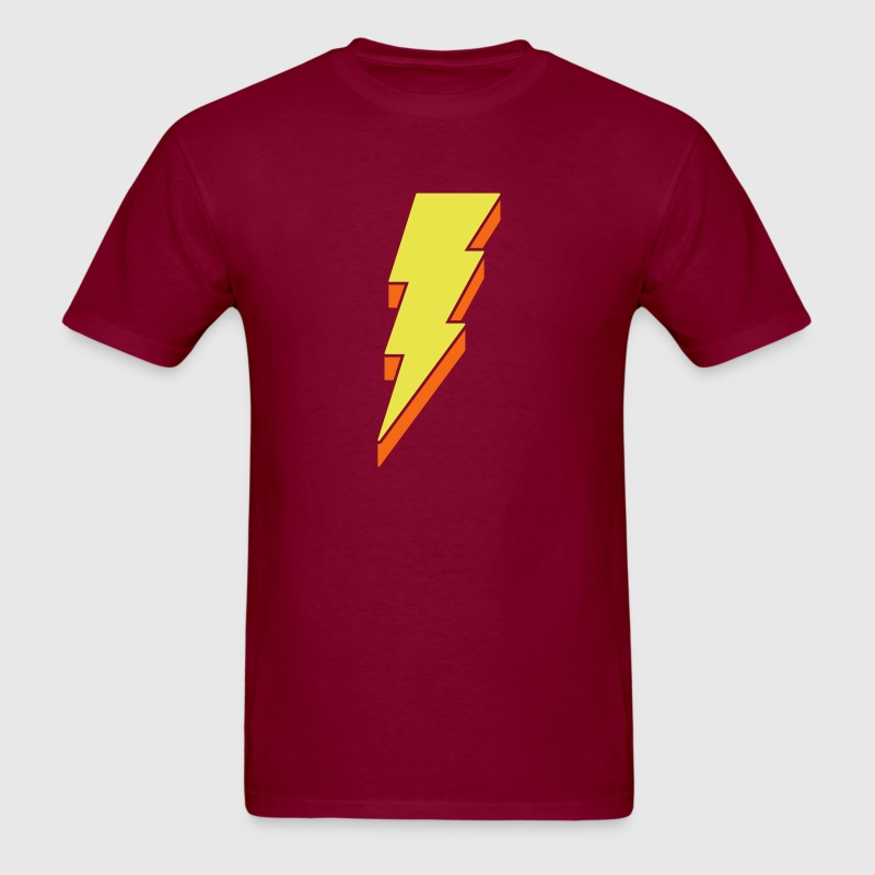 Lightning Bolt - 3D - Men's T-Shirt