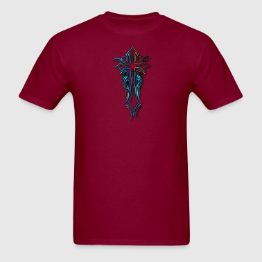 PINSTRIPE CROSS BLUE - Men's T-Shirt
