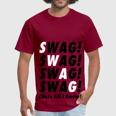 Swag Tee (White On Black) - Men's T-Shirt