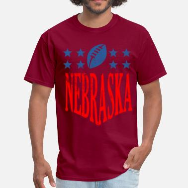 Nebraska Football nebraska football - distressed - Men's T-Shirt