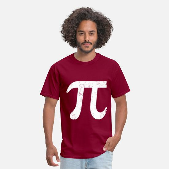 Pi T-Shirts - big_pi_symbol - Men's T-Shirt burgundy