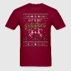 UGLY HOLIDAY SWEATER LET'S GET BLITZEN - Men's T-Shirt