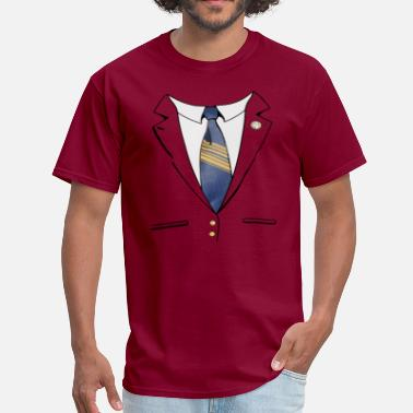 Burgundy Ron Burgundy Suit - Men's T-Shirt