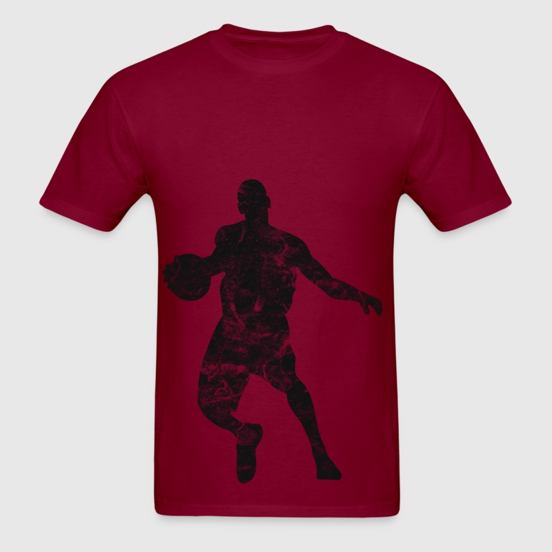 Basketball Player Vintage Look Retro - Men's T-Shirt