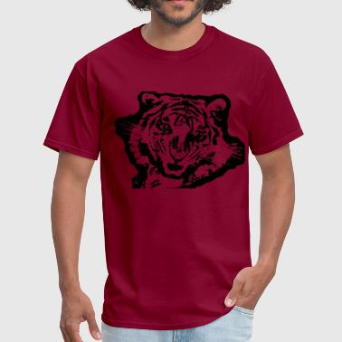 Fighting Stencil tiger stencil plain - Men's T-Shirt