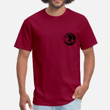 Backpacker Hiker A hiker with backpack and trekking pole - Men's T-Shirt