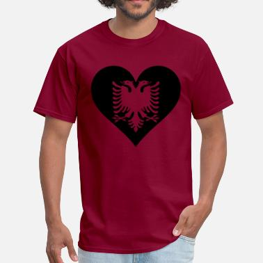Albanian Eagle Design Albanian Eagle Heart - Men's T-Shirt