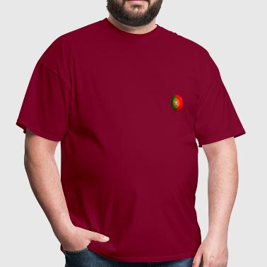 Portugal Flag Button round - Men's T-Shirt