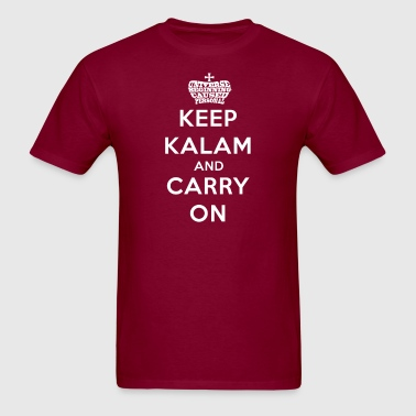 Keep Calm Kalam And Carry On Worded Crown - Men's T-Shirt