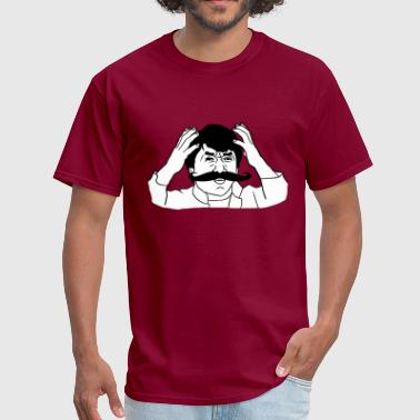 Jackie Moustache - internet meme - Men's T-Shirt