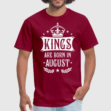 19 Kings are born in August King Happy Birthday - Men's T-Shirt