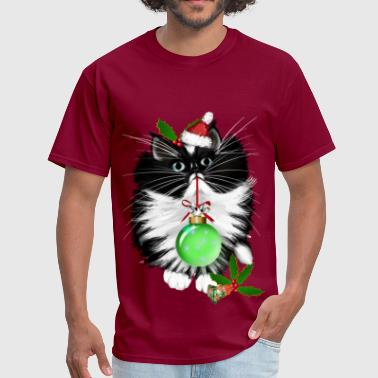 Cat Christmas A Tuxedo Merry Christmas - Men's T-Shirt