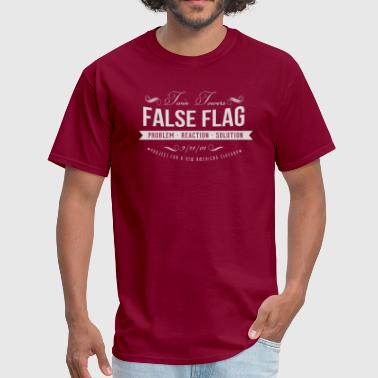 Tops Twins Twin Towers False Flag - Men's T-Shirt