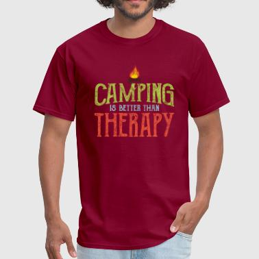 Camping Therapy Camping is Better Than Therapy - Men's T-Shirt