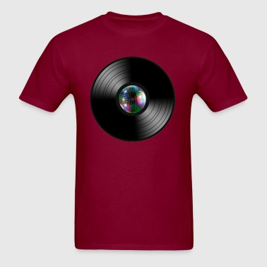 Vinyl Record LP Mirror Ball - Men's T-Shirt