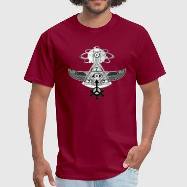 Adam Strange PYRAMID FLYING MACHINE 2 - Men's T-Shirt
